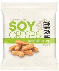 Piranha Soy Crisps Sweet Chilli Lime 23g