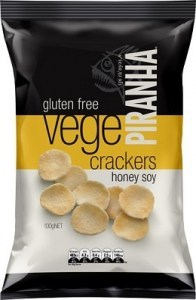 Piranha Vege Crackers Honey Soy  100g
