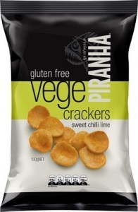 Piranha Vege Crackers Sweet Chilli Lime  100g