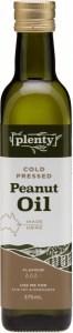 Plenty Cold Pressed Peanut Oil 375ml
