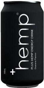 Plus Hemp Energy Drink Guarana Flavour 12x330ml Cans