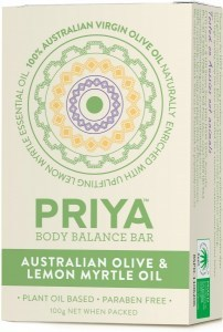 Priya Australian Olive Oil with Lemon Myrtle Soap 100g