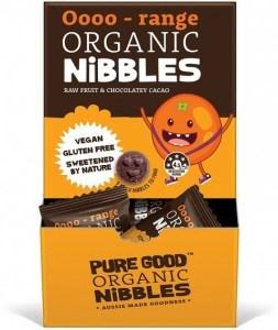 Pure Good Organic Nibbles Oooo-range w/ Chocolatey Cacao  50x10g