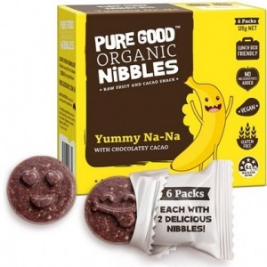 Pure Good Organic Nibbles Yummy Na-Na w/ Chocolatey Cacao  120g