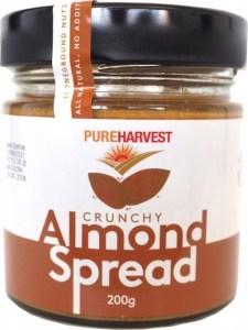 Pure Harvest Almond Spread Crunchy 200g