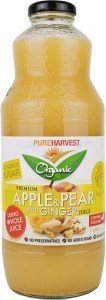 Pure Harvest Organic Apple, Pear & Ginger Juice 1L x 6