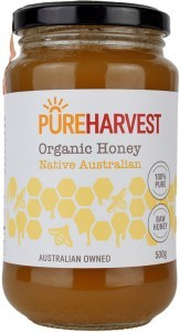 Pure Harvest Organic Raw Honey 500g