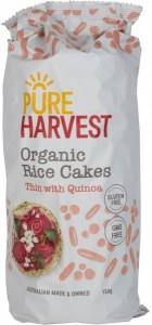 Pure Harvest Organic Thin Rice Cakes with Quinoa  150g