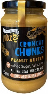Purely Nutz 100% Natural Peanut Butter Crunchy 375g