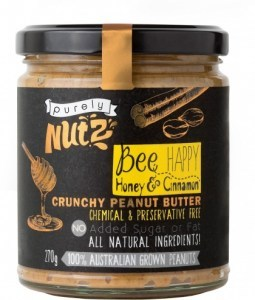 Purely Nutz Peanut Butter with Honey and Cinnamon 270g