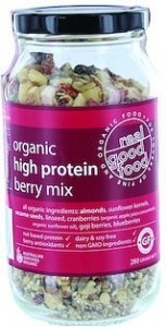 Real Good Foods Organic High Protein Berry Mix Jar 280g