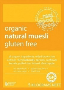 Real Good Foods Organic Natural Muesli 5kg