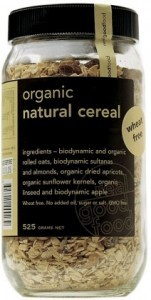 Real Good Foods Organic Natural Cereal Jar 525g