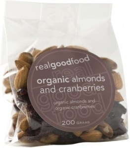 Real Good Foods Organic Almonds and Cranberries 100g