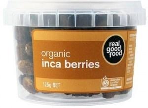 Real Good Foods Organic Inca Berries (Golden Berries) 125g