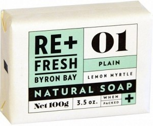 ReFresh Byron Bay 01 Lemon Myrtle Soap Plain 100g