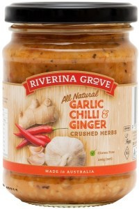 Riverina Grove Garlic Chili & Ginger Sauce  240g