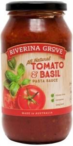 Riverina Grove Tomato Basil Pasta Sauce  500g