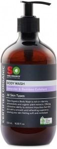 Saba Organics Body Wash Lavender & Bamboo Exfoliant 500ml