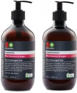 Saba Organics Hair Pack - Geranium & Argan Shampoo and Conditioner