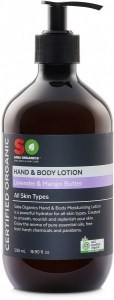 Saba Organics Hand & Body Lotion Lavender & Mango Butter 500ml