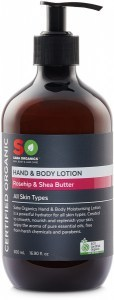 Saba Organics Hand & Body Lotion Rosehip & Shea Butter 500ml