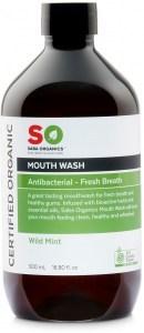 Saba Organics Mouth Wash Wild Mint 500mL