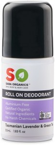 Saba Organics Roll On Deodorant Tasmanian Lavender & Green Tea 50ml