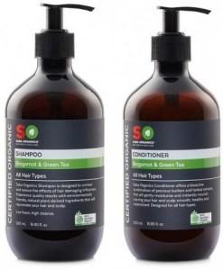 Saba Organics Hair Pack - Bergamot & Green Tea Shampoo and Conditioner 500ml