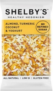 Shelby's Healthy Hedonism Almond, Turmeric Coconut & Yoghurt 12x40g