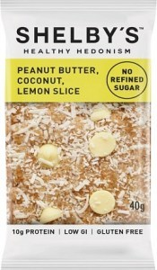 Shelby's Healthy Hedonism Peanut Butter, Coconut, Lemon Slice 12x40g
