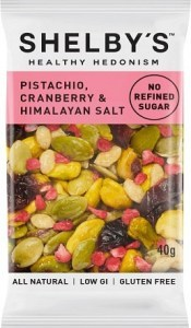 Shelby's Healthy Hedonism Pistachio, Cranberry & Himalayan Salt 12x40g
