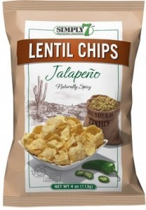 Simply 7 Lentil Jalapeno Chips 4x113g