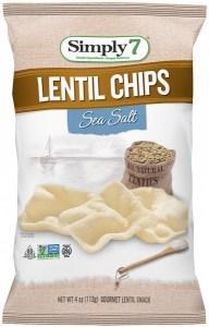 Simply 7 Lentil Sea Salt Chips 4x113g