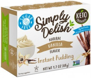 Simply Delish Vanilla Natural Pudding & Pie Filling  44g