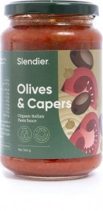 Slendier Capers & Olives Italian Sauce 340g