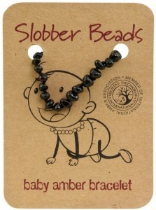 Slobber Beads Baltic Amber Baby Teething Bracelet Cherry Oval