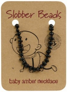 Slobber Beads Baltic Amber Baby Teething Necklace Cherry Round