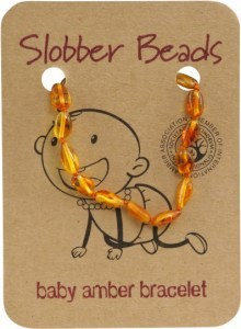 Slobber Beads Baltic Amber Baby Teething Bracelet Honey Oval