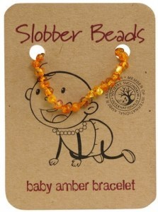 Slobber Beads Baltic Amber Baby Teething Bracelet Honey Round