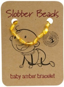 Slobber Beads Baltic Amber Baby Teething Bracelet Lemon Oval