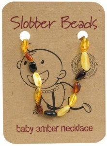 Slobber Beads Baltic Amber Baby Teething Necklace Multi Oval