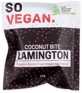 So Vegan Organic Coconut Bite Lamington  25g