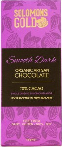 Solomons Gold Smooth Dark Organic Aritsan Chocolate 70% Cacao  55g