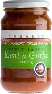 Spiral Organic Basil & Garlic Sauce  Glass 375g