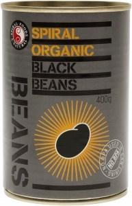 Spiral Organic Black Beans  400g