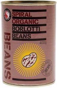 Spiral Organic Borlotti Beans  400g