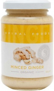 Spiral Organic Minced Ginger  Glass 210g