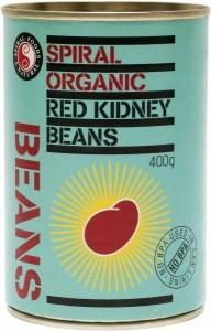 Spiral Organic Red Kidney Beans  400g