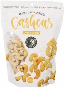 Spiral Premium Roasted Cashews Unsalted 400g